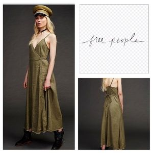 🆕Free People Walk With Me Wrap Maxi Dress.  NWOT.