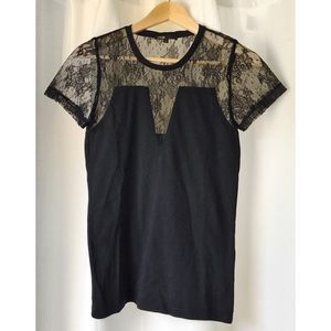 Maje Tops - 〰 SALE 〰 Maje Tylan Lace Shoulder Jersey T-shirt