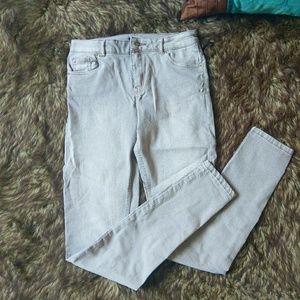 Tan khaki wash jeans
