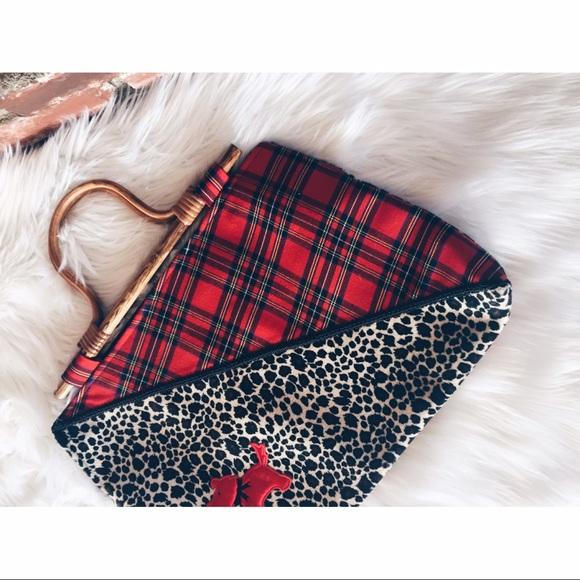 76 off atenti handbags final atenti schnauzer plaid leopard wood tote from la retro girl 39 s. Black Bedroom Furniture Sets. Home Design Ideas