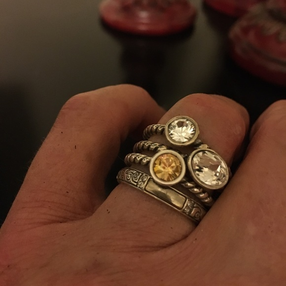 60 brighton jewelry set of 4 brighton stackable