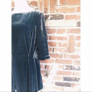 French Connection Velvet Boho Blouse Dress 10