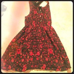 Floral button up dress