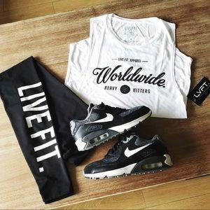 LIVE FIT Athletic Leggings, XS, Black & White