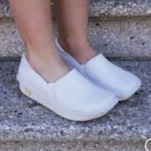 Alegria Shoes - ALEGRIA DEBRA WHITE LEATHER