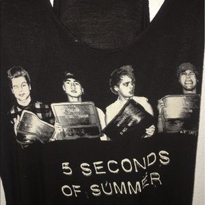 5 Seconds Of Summer Tops - 5 Seconds of Summer Tank Top