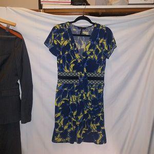 BCBG Yellow & Blue Dress