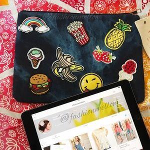 Pink Haley Handbags - Fun denim clutch