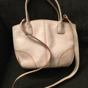 Fossil Handbags - Fossil White Leather Satchel Tote w/strap