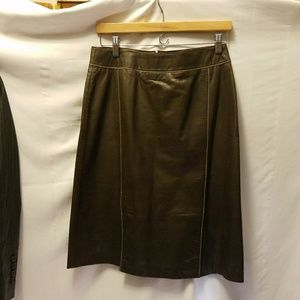 Sigrid Olsen Dresses & Skirts - SIGRID OLSEN Leather Skirt
