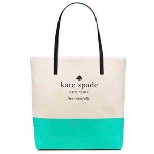 kate spade Handbags - ✨NWT✨ Kate Spade Basin Bon Shopper Tote Turquoise