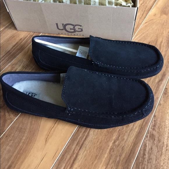 007195192d8 UGG Australia Men's M Alder Suede loafer - Black NWT