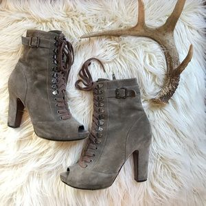 Sam Edelman Olive Leather Lace Boots