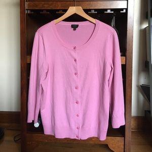 Talbots pink cardigan sweater