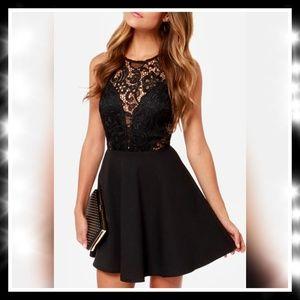 Boutique  Dresses & Skirts - 🌟⚘Beautiful & Elegan black w/lace dress⚘🌟