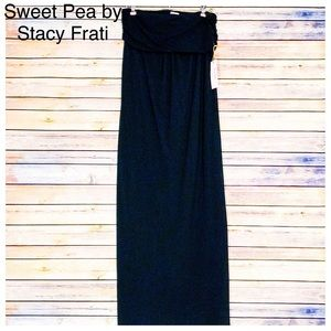 Sweet Pea Dresses & Skirts - NWT SweetPea by Stacy Frati Bandeau Mesh Maxi, Lg