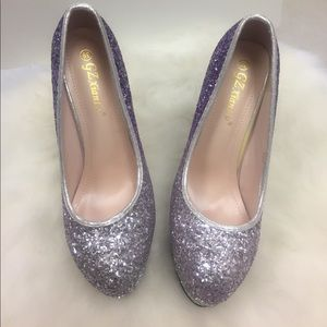 Silver & Purple Glitter 6' Stilettos by GZ Xian Lv