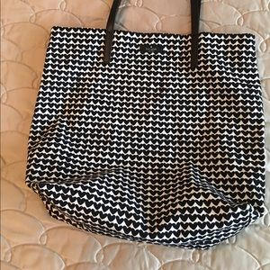 Kate Spade black and white heart bon shopper