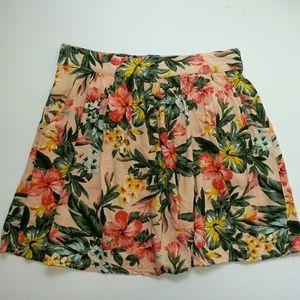 Bar III Tropical Floral Mini Skirt with Pockets
