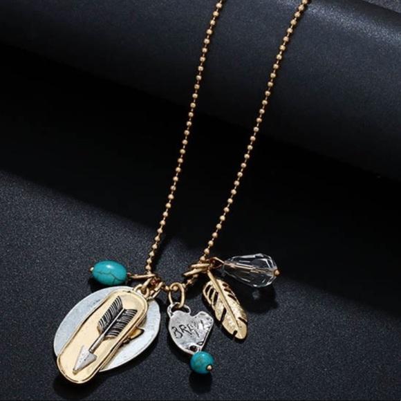 Brighton jewelry long necklace boho southwest multiple pendants long necklace boho southwest multiple pendants aloadofball Gallery