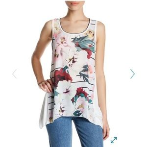 Edista Tops - NWOT - Floral Tunic Tank
