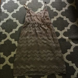 Old Navy Tan Ikat Print Dress