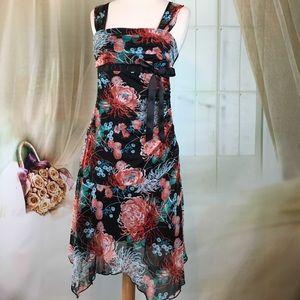 OXOXO Sleeveless Floral Print Dress
