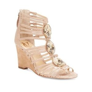 Vince Camuto Shoes - ✨NIB✨ VC Signature Emile Jeweled Sandals Wedges