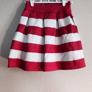 OASAP Dresses & Skirts - NWT structured skirt with pink & white stripes