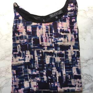 Eloquii Tops - NWT Eloquii Abstract Short Sleeve Blouse
