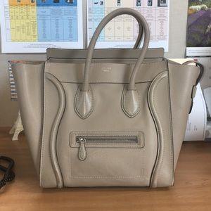 Celine Handbags - Celine Mini Luggage Tote Dune