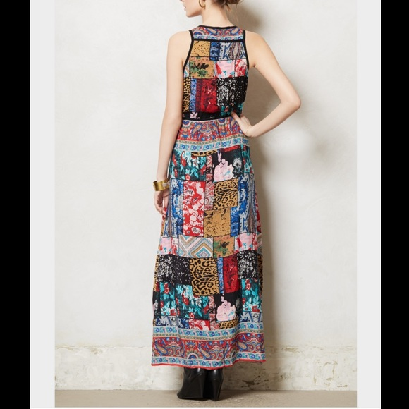 Anthropologie anthropologie tolani beautiful print maxi for Anthropologie mural maxi dress