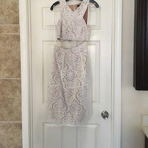BCBG Beautiful two-piece lace dress.