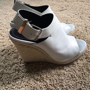 Balenciaga whiteleather espadrille sandal, size 41