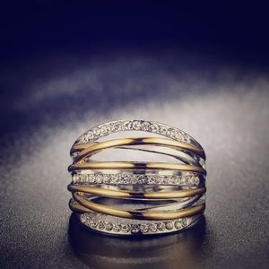 Jewelry - Wide Two Tone Ring
