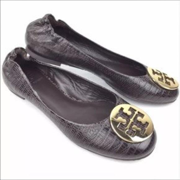 e7d4a183a6 Tory Burch Shoes | Python Leather Reva Flats | Poshmark