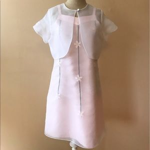 Sylvia Whyte Light Pink/White Organza Dress