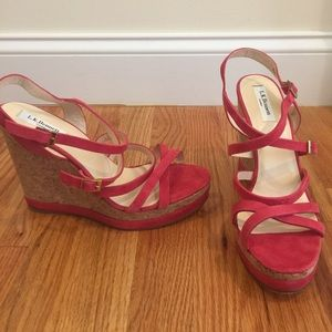 """LK Bennett Shoes - NEW LK Bennett """"Nahoon"""" suede sandal wedges! Sz 41"""