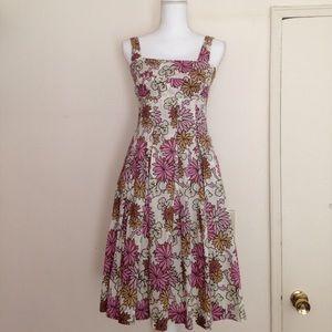 Barneys New York Dresses & Skirts - Barneys New York pleated floral cotton sundress