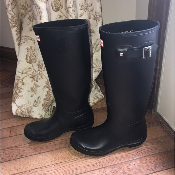 50 off hunter boots shoes tall matte black hunter