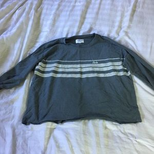 American eagle crop top long sleeve extra wide top