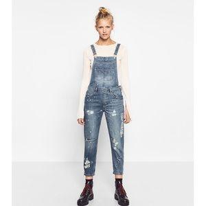 Zara Denim - 👖🌾Ripped denim Dungarees overalls 👖🌾