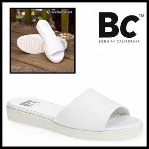 SANDALS Croc Embossed Flats Slides Flip Flops