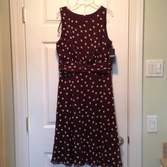 41039e747402 MSK Dresses | Polka Dot Flair Dress Lowered Price | Poshmark