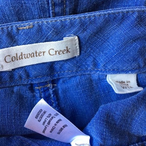 Coldwater Creek Skirts - Coldwater Creek Chambray Skirt Blue Linen Plus sz