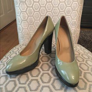 Hogan Shoes - 🛍 Hogan Mint Green Black Heels 39