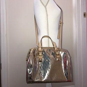 Michael Kors Handbags - Authentic Michael Kors Grayson Gold Mirror Satchel