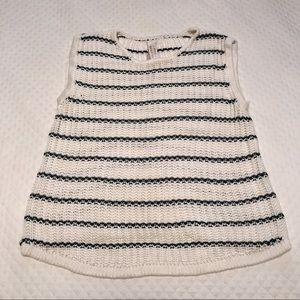 Pull&Bear Sweaters - Black/White Striped Sleeveless Sweater Pull & Bear