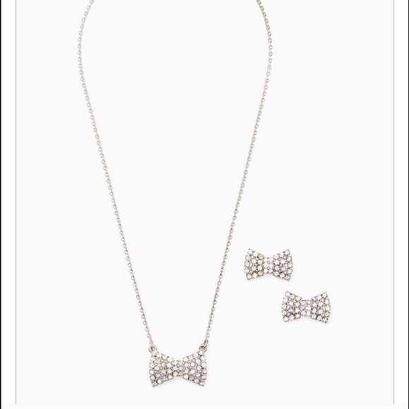 Kate Spade Pearl Bow Necklace: Kate Spade Sparkling Bow Necklace And