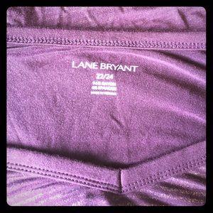Lane Bryant Tops - Burgundy Poncho Blouse Tunic Gold sparkly Stripes